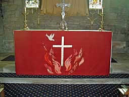 Picture, Altar Frontal, Red